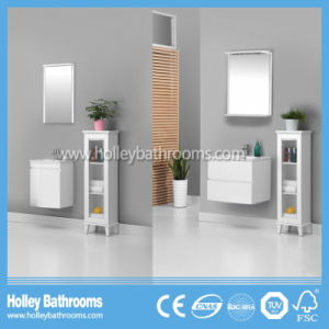 New Design Bathroom Cabinets with Clear Glass Side Cabinet Set (BV216W)
