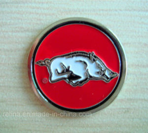 Custom Soft Enamel Pig Golf Ball Marker (GBM-6)