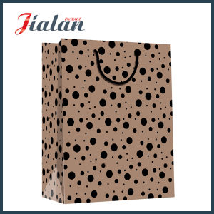 Black Logo Printed Customize High Quality Kraft Paper Gift Bag pictures & photos