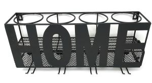 Amazon Hot Sale 6 Bottles Wall Mounted Decorative Iron Wine Rack with Black Coating pictures & photos