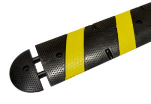 Black Yellow Portable Rubber Road Speed Hump (CC-B10) pictures & photos