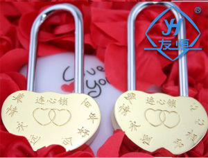 Yh1002 Love Heart Lock Long Hook Padlock pictures & photos
