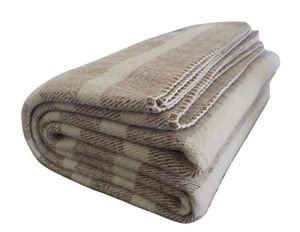 Wool Throw Southern Grown Tan Cream Stripe Wool Blanket pictures & photos