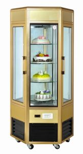 Rotating Glass Door Cake Display Showcase pictures & photos