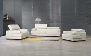Simple Designing White Corlor Setional Leather Sofas (L057) pictures & photos