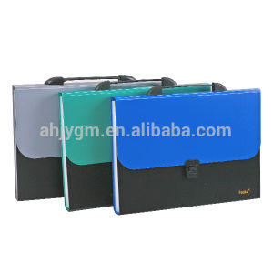 A4 13 Layers Transparent Color Expanding File/Expanding Bag with Handle pictures & photos