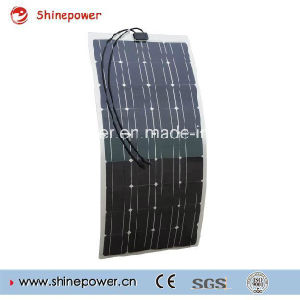 100W Semi-Flexible Solar Panel for Camper RV Yacht Home pictures & photos