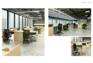 New Design Office Furntiure Office Workstation Cluster with 120 Degree Workstation