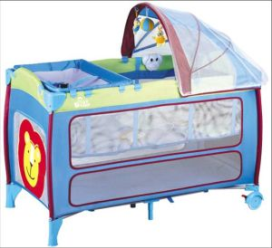 High Quality Steel Tube Frame Portable Travel Cot Baby Playard pictures & photos