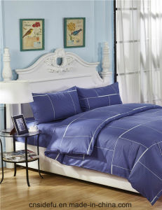 Wholesale Home Use Yarn Dyed Cotton Duvet Cover Sets pictures & photos