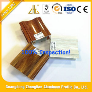 Wood Grain Profiles Aluminum Extrusion for Different Usage pictures & photos