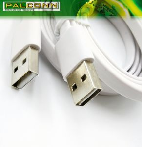 Phone Accessories~USB2.0 Am to Type C Flat Charging Cable, Color~White, UL Cable pictures & photos