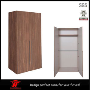 2016 Latest Simple Fashion Dressing Room Bedroom Furniture Customizable 2 Door Wooden Wardrobe