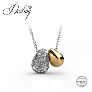 Destiny Jewellery Crystal From Swarovski Lucky Bean Pendant & Necklace