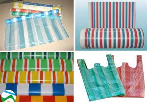 Double Color Striped T-Shirt Bag Film Blowing Machine pictures & photos