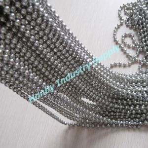 2014 Custom 6mm Silver Metal Beaded Chain for Decoration