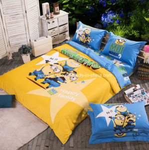 Textile 100% Cotton High Quality Bedding Set for Home/Hotel Comforter Duvet Cover Bedding Set (Minions1) pictures & photos