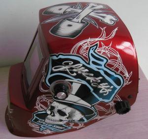 Speed Skull/Solar Powered Welding Helmet 92*42mm (G1190TC) pictures & photos