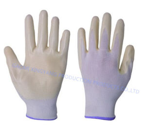 Natrile Coated Glove Labor Protective Safety Work Gloves (N6027) pictures & photos