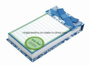 Custom High Quality Glue Bind Notepad with Ribbon