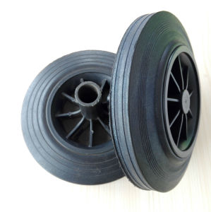 6 and 8 Inches Garbage/Dust/Waste Bin Solid Wheel with Axle pictures & photos