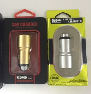 5V 2.1A Metal Safety Hammer Car Charger 2 USB Ports for Phone pictures & photos