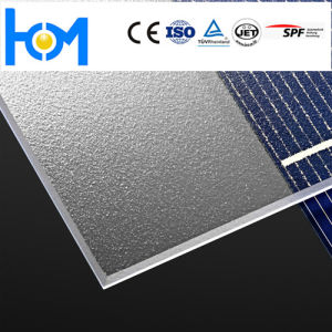 Clear Low Iron Glass Patterned Tempered Solar Panel Ar Coated Photovoltaic Glass pictures & photos