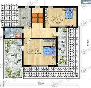 Prefabricated OEM European-Style 2 Floor House Villa with Attic pictures & photos