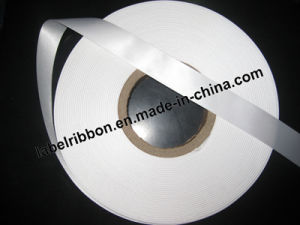 Oeko-Tex Single/ Double Side Label Printing Woven Edge Polyester Satin Ribbon (SW500) pictures & photos