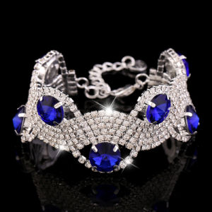 Fashion Accessories Stainless Steel Jewelry Crystal Bracelet