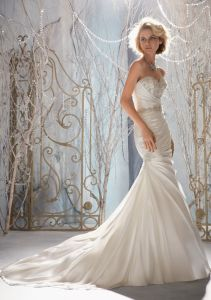 Crystal Beaded Embroidery Mermaid Wedding Dresses (WMA3050) pictures & photos