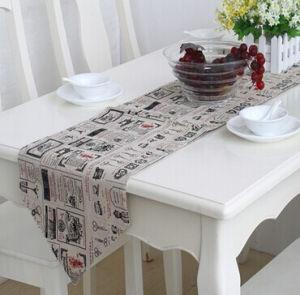 Faux Linen Table Runner Decorative Table Flag (STR-02) pictures & photos
