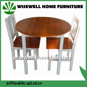 Solid Wood Bi Color Dining Furniture Set pictures & photos