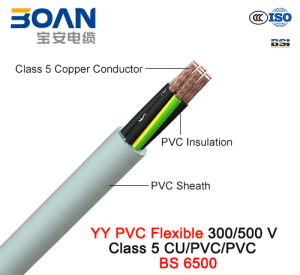 Yy PVC Control Cable, 300/500 V, Flexible Cu/PVC/PVC (BS 6500) pictures & photos