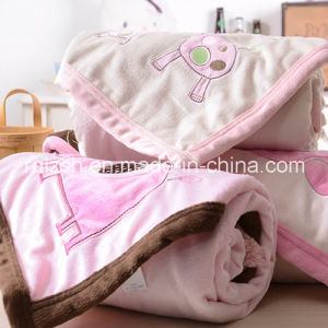 Double Embroidered Baby Blankets / Hold Blanket 76 * 102cm pictures & photos