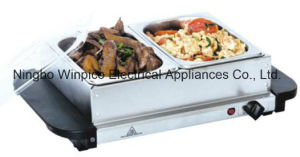 2 Pan Stainless-Steel Buffet Server and Warming Tray