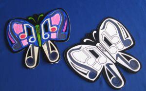 Butterflies Velvet Suncatchers Kit Pk/12, DIY Craft