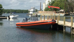 Aqualand 30feet 9m Rigid Inflatable Fishing Boat/Fiberglass Rib Boat (RIB900B) pictures & photos