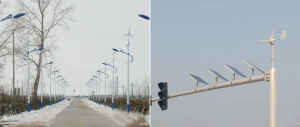 Cheapest 12V 24V 300W Wind Solar Hybrid Generator Street Light System pictures & photos