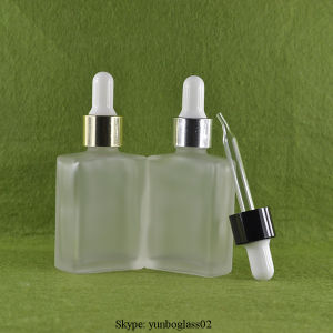 30ml Clear Rectangle Glass Bottles for E-Liquid pictures & photos