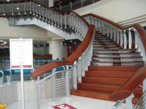 Wooden Handrail Glass Railing System pictures & photos