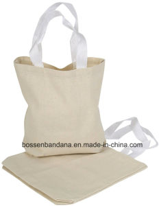 OEM Produce Customized Logo Printed Promotional Cotton Canvas Tote Shopper Bag pictures & photos