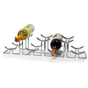 Euro Hilo 7-Bottle Chromed Wine Rack