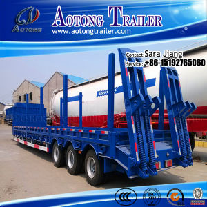 CCC ISO 3 Axles Tri Axle Low Bed Semi Trailer pictures & photos