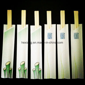 Disposable Paper Wrapped 100% Bamboo Chopsticks pictures & photos