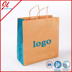 Brown Kraft Shopping Paper Bag Carrier Bags with Twisted Paper Handle pictures & photos