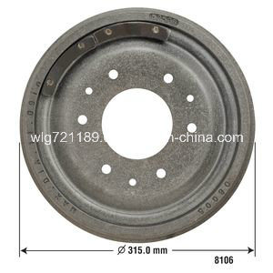 Car Brake Drum 8106 for Gmc pictures & photos