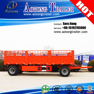 Full Type Flatbed 2 Axles Tow Draw Bar Cargo Trailer pictures & photos