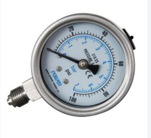 2.5inch-63mm Full Stainless Steel Bottom Thread Type Pressure Manometer pictures & photos