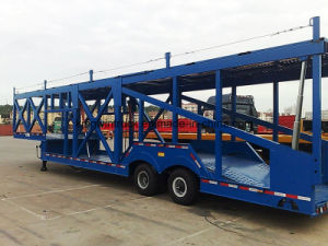 Cimc Brand Two Axles Car Transported Semi-Trailer pictures & photos